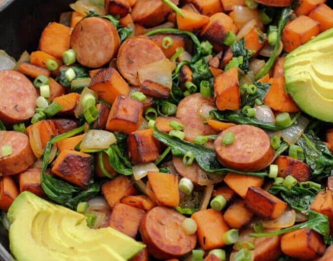 Sausage and Sweet Potato Breakfast Skillet