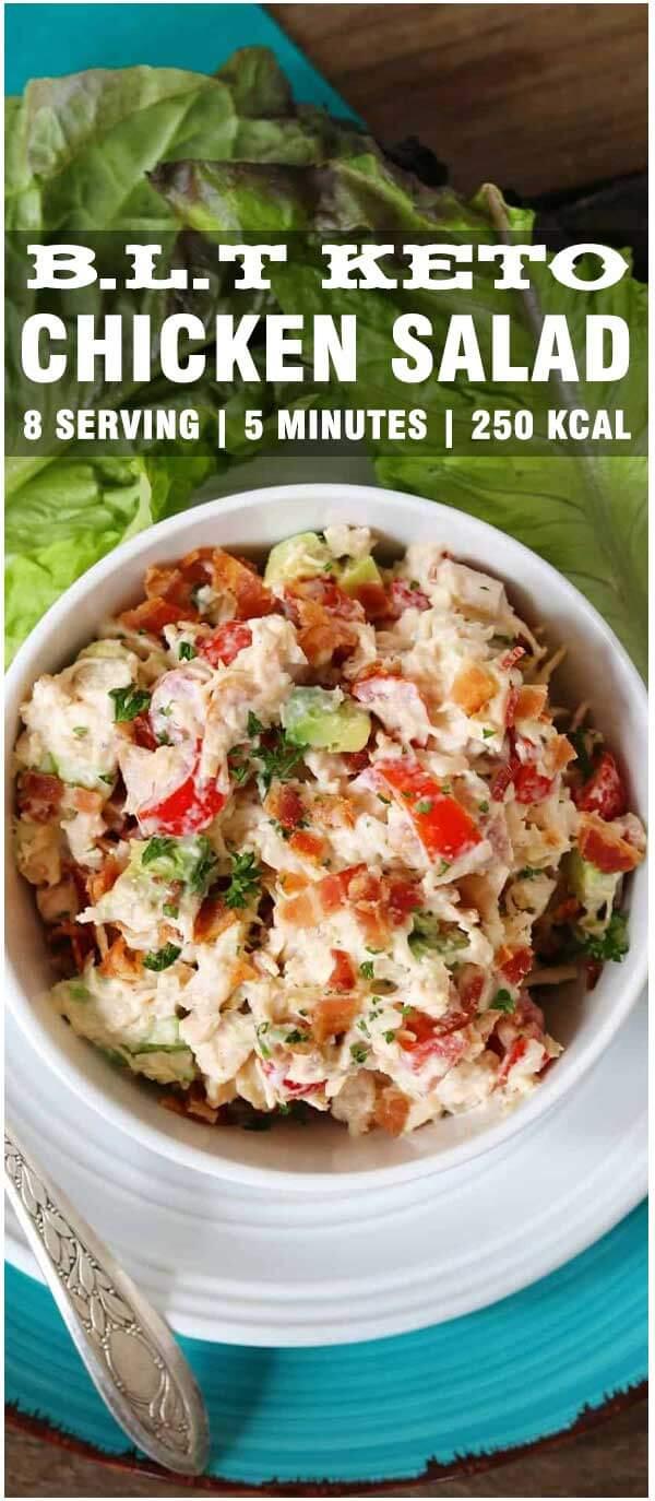 BLT Keto Chicken Salad