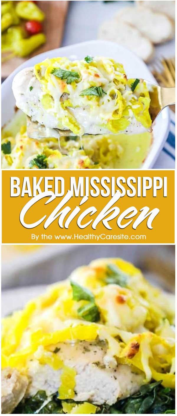 Baked Mississippi Chicken
