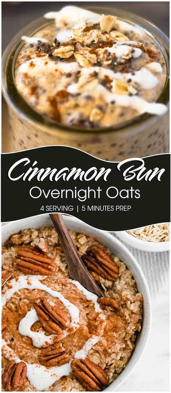 Cinnamon Bun Overnight Oats