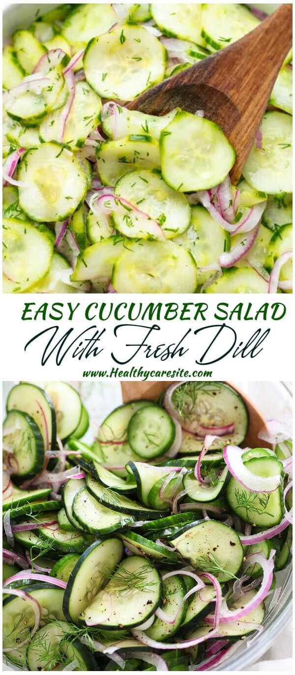 Easy Cucumber Salad With Fresh Dill