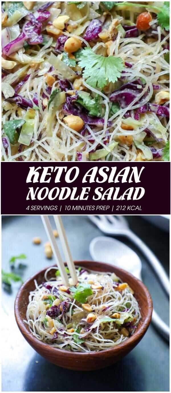 Keto Asian Noodle Salad