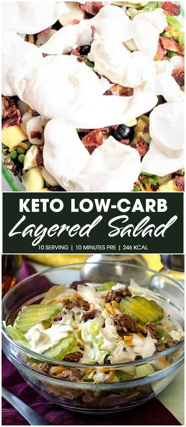 Keto Low-Carb Layered Salad