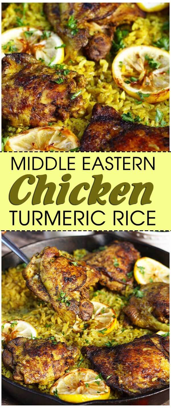 Middle Eastern Chicken and Turmeric Rice