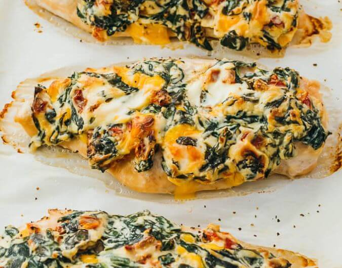 Oven Baked Spinach Chicken