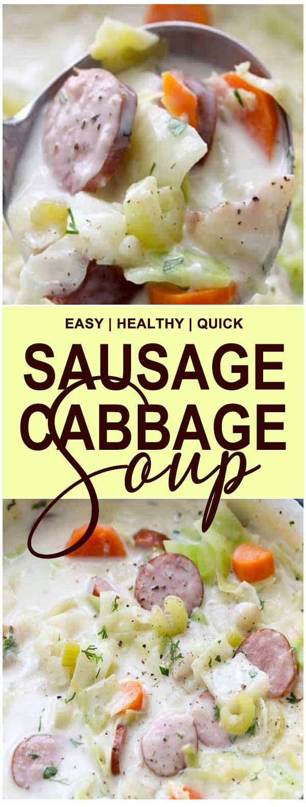 Sausage & Cabbage Soup