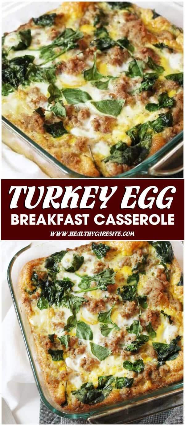 Turkey Egg Breakfast Casserole