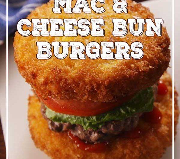 Mac & Cheese Bun Burgers