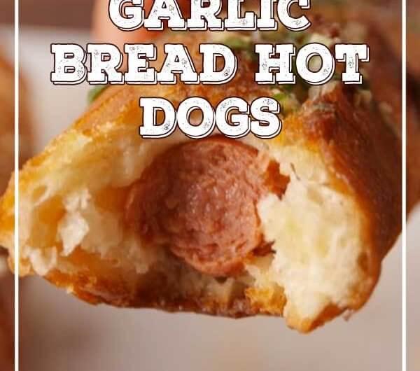 Garlic Bread Hot Dogs