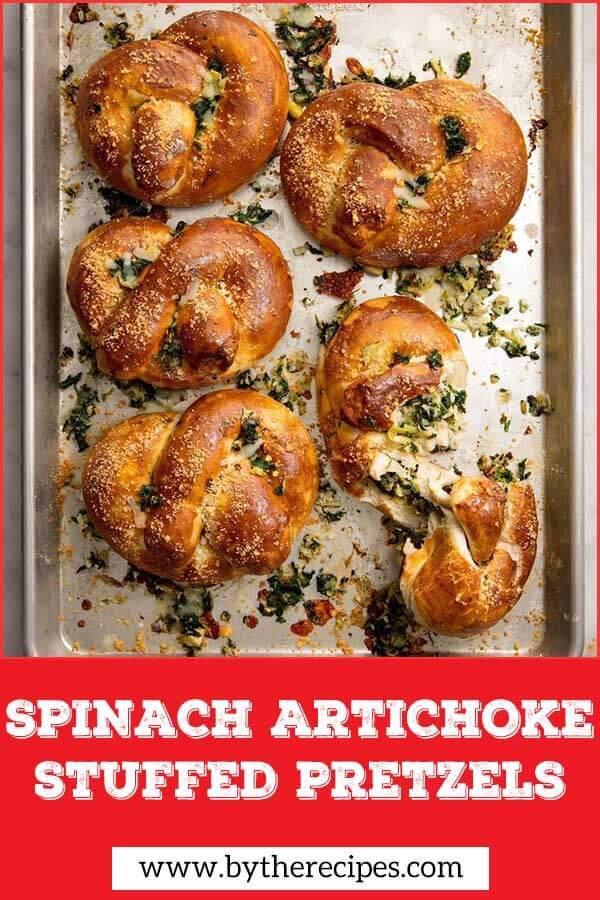 Spinach-Artichoke-Stuffed-Pretzels