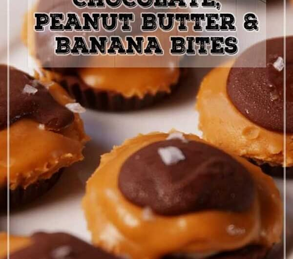 Chocolate, Peanut Butter & Banana Bites