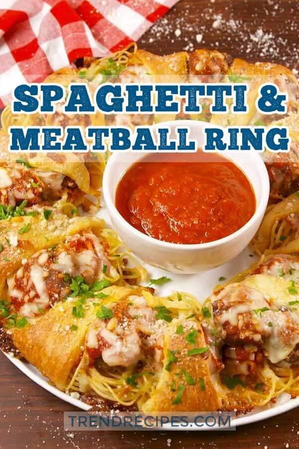 Spaghetti-Meatball-Ring