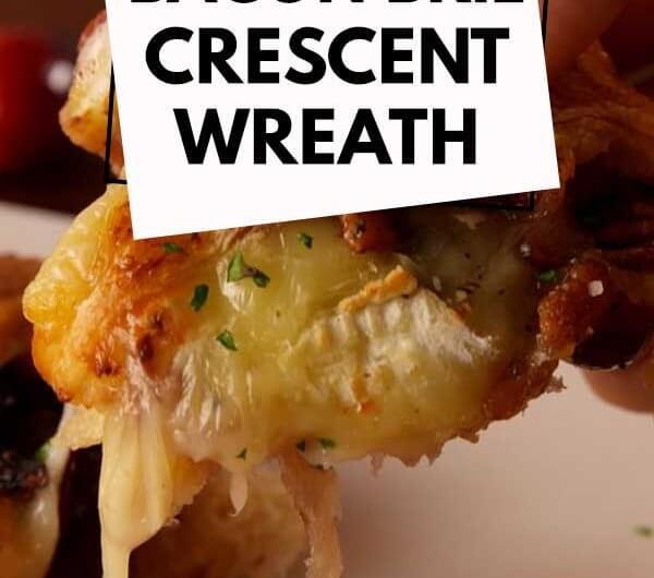Bacon Brie Crescent Wreath