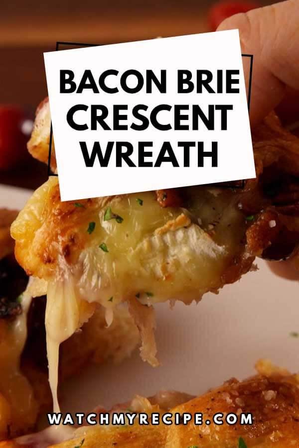 Bacon-Brie-Crescent-Wreath